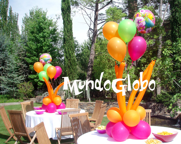 Decoracion hawaiana en globos - Decoracion fiesta adultos ...